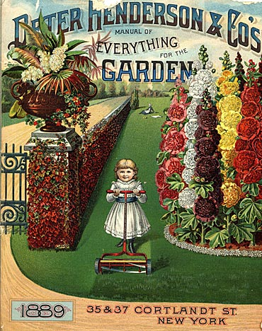This 1889 Henderson seed catalog cover featured the lawn.