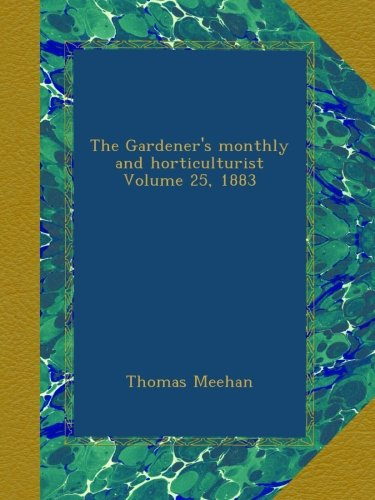 Gardener's Monthly cover 1883