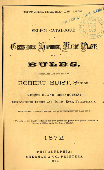 1872 Catalog from the Robert Buist Company, Philadelphia
