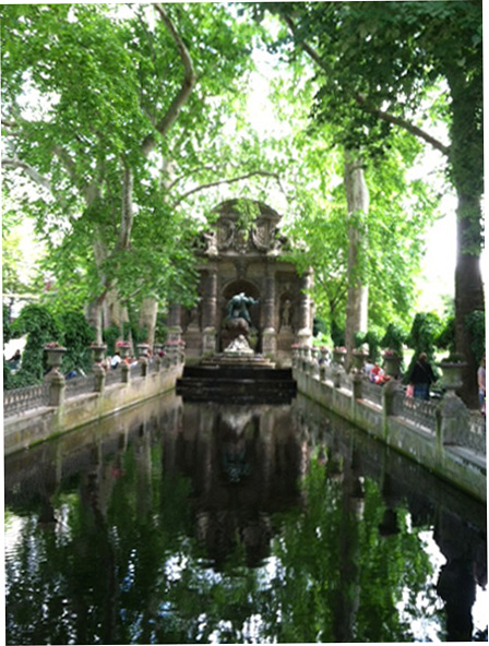 A Grotto in Luxembourg Park in Paris.
