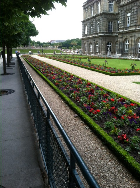 Paris' Luxembourgh Parks's formal flwoer beds