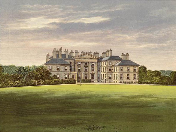 Scotland's Dalkeith Palace, best example of the work of landscape gardener Charles McIntosh (1794--)