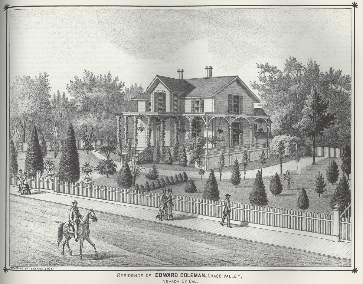 Coleman house in 1880