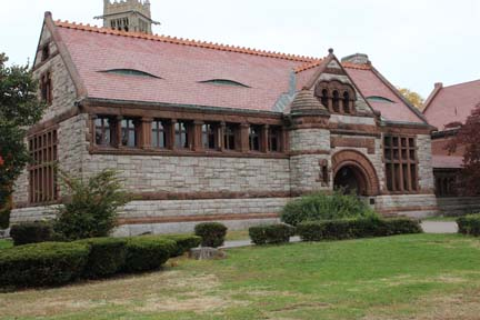 The Thomas Crane Library, built in 1881, in Quincy, Mass.
