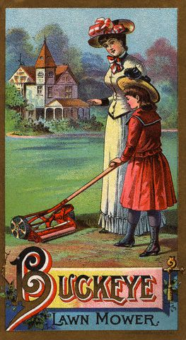 Buckeye Lawnmower ad [Pinterest]