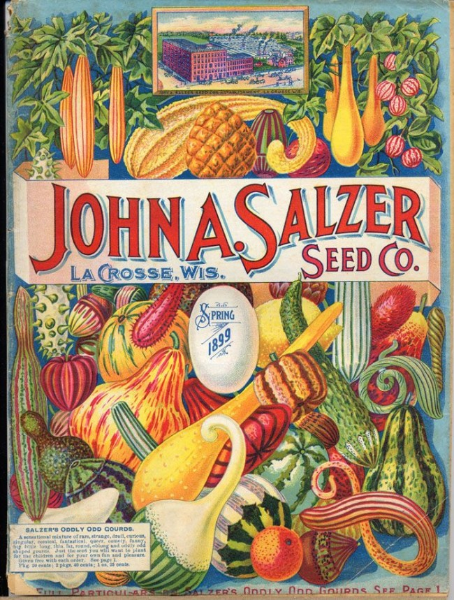 This John Salzer catalog cover of 1899 included an image of the company's main office. [Courtesy of Pinterest]