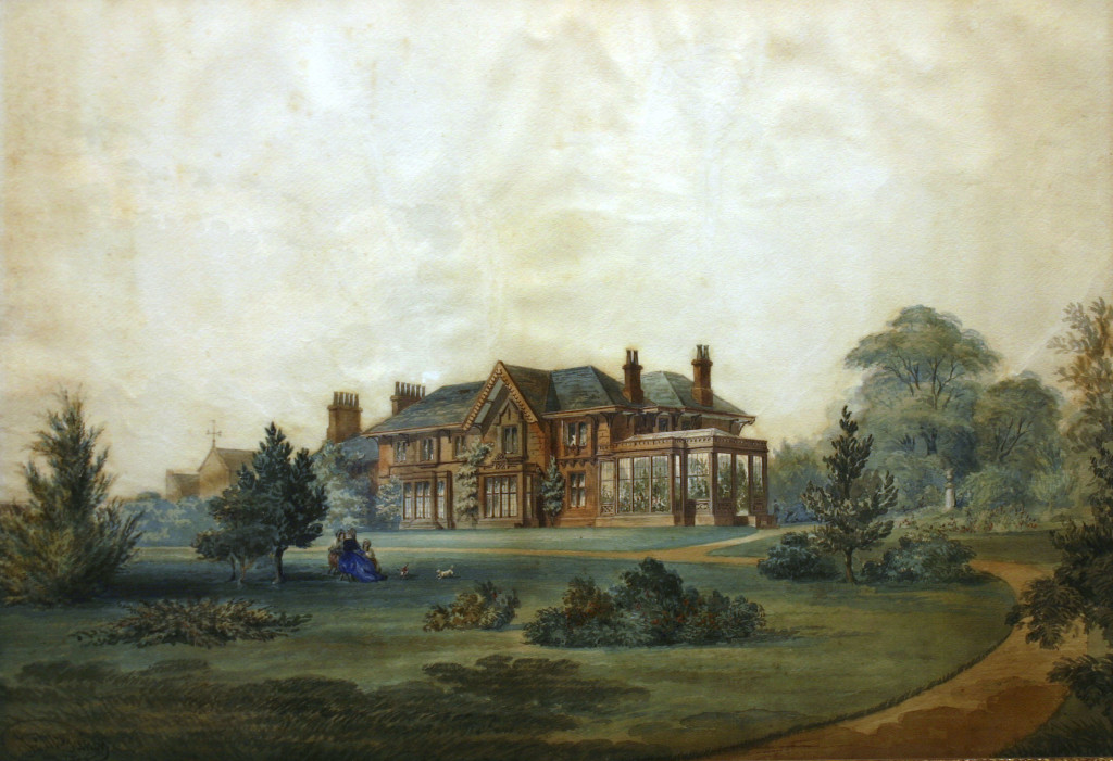 'Wyncote', watercolor by John McGahey, 1840