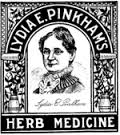 An ad for the patent medicine, Lydia Pinkham
