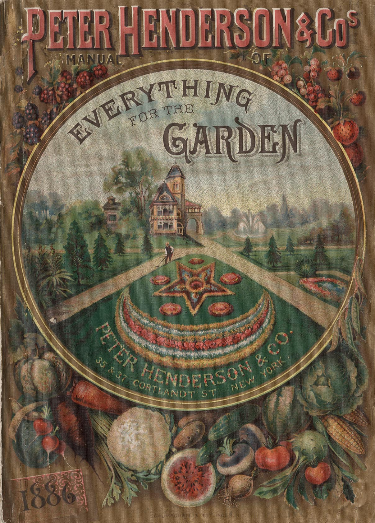 Bedding on the front cover of this Peter Henderson Company seed catalog