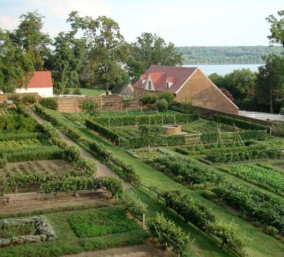 The Kitchen Garden at George Washington's home in Mount Vernon [Pinterest]