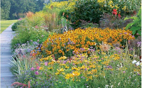 The perennial border at White Flower Farm in Litchfield, Conn.