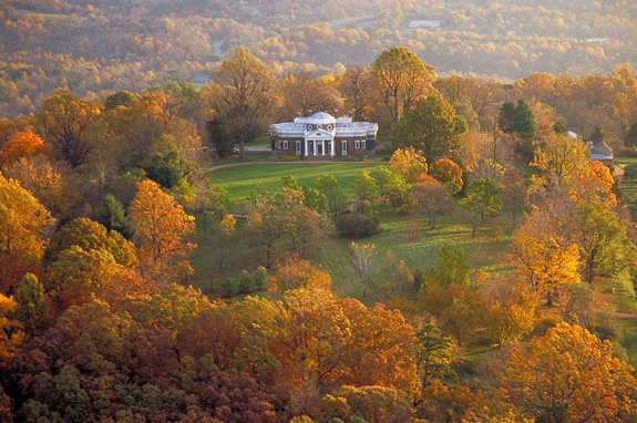 Monticello in the Fall [Courtesy of the Monticello Foundaiton]