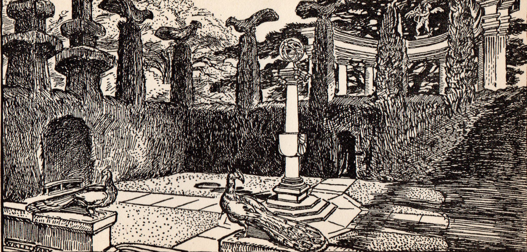 A Garden Enclosed , a drawing from Sedding's book