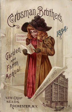Catalog cover of the Crosman Brothers Seed Catalog of 1894 [thanks to New York Botanical Garden]