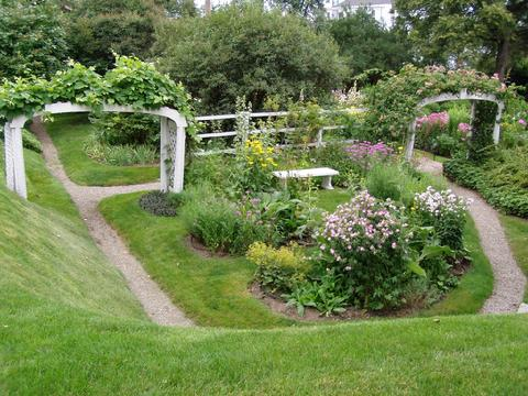 The perennial border at the Moffat-Ladd, as it looks today.