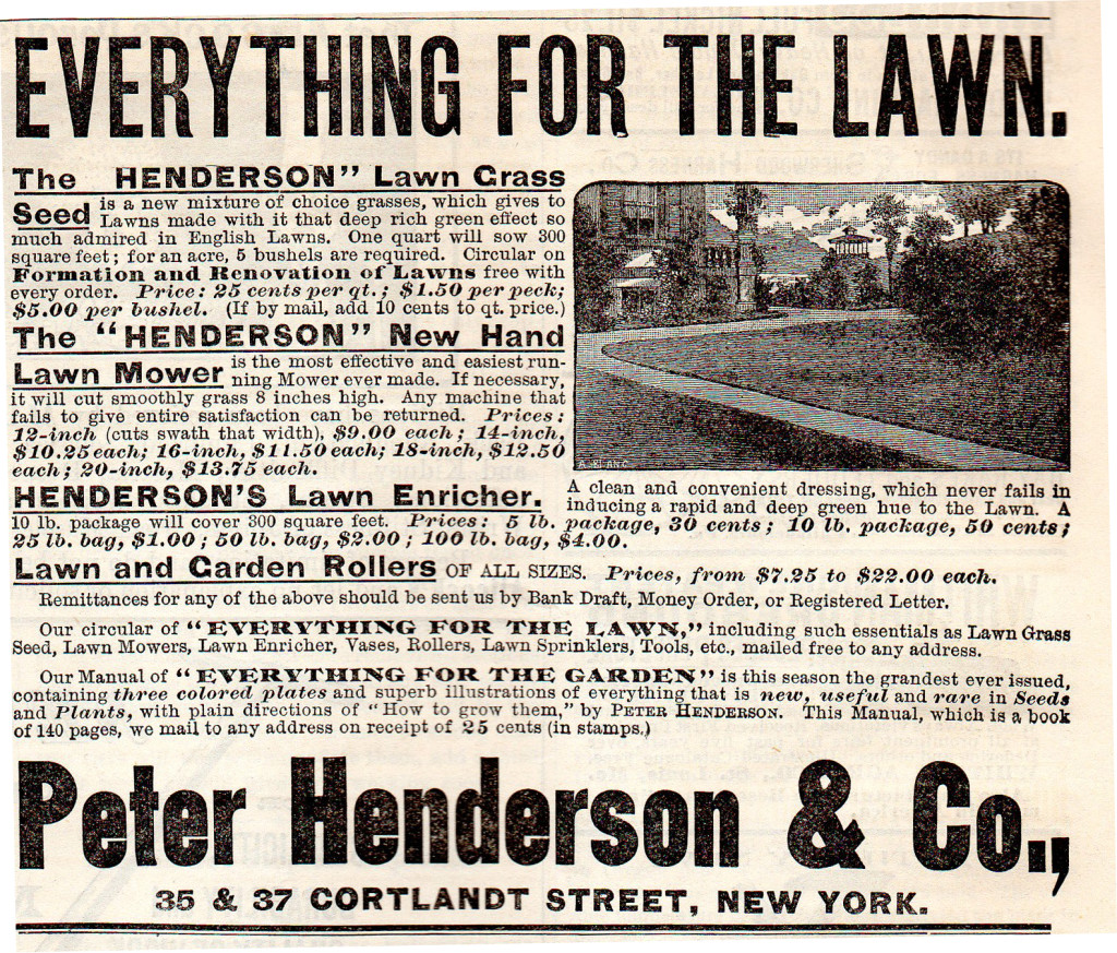 Henderson Seeed Company ad in 1888