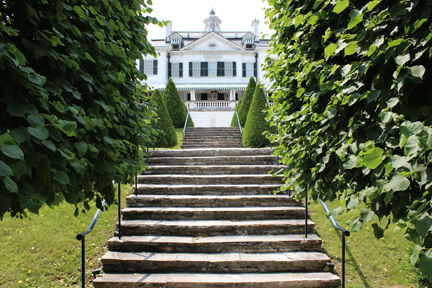 Staircase in the formal garden at The Mount