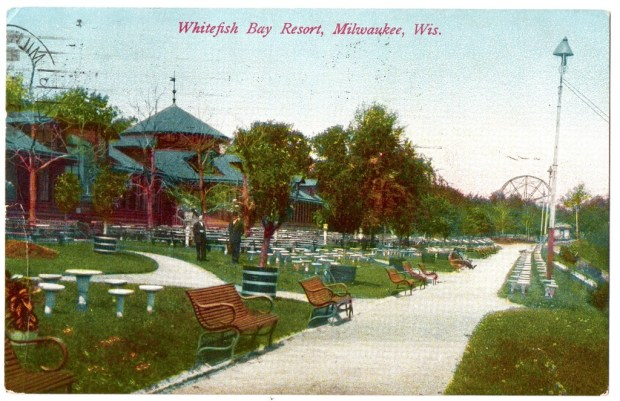 The Pabst Beer Garden in Whitefish Bay, near Milwaukee, appeared in 1890s. [Courtesy XXX]