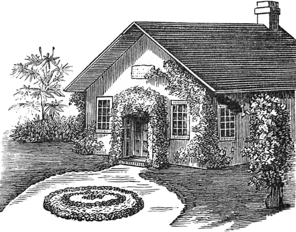 Landscaped Schoolhosue Vick's Floral Guide 1882