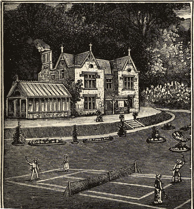 Conservatory as part of the house in this 1892 Parker and Wood Seed Catalog