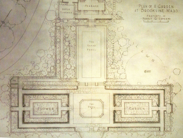 Design Plan for the Henry G. Lapham property, Brookline, Mass. [Olmsted Archives)