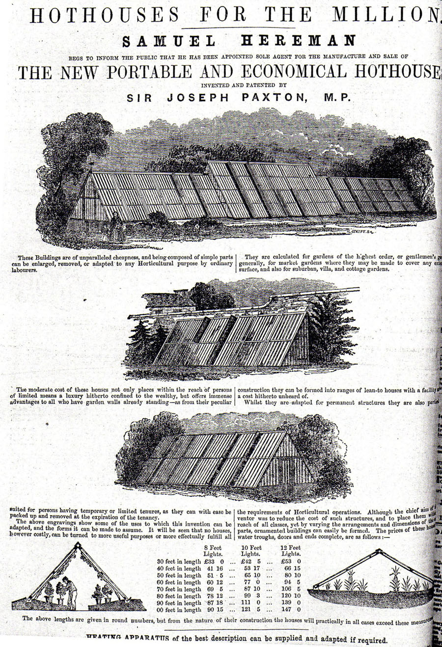 ad in 1860 issue of Gardeners' Chronicle