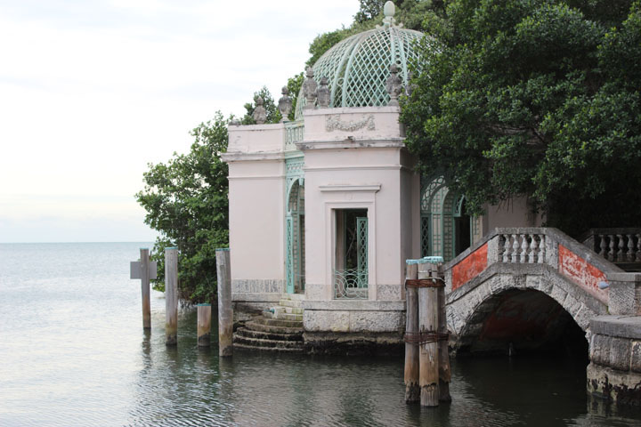 structure on the water called 'Sicilian Casba' at Vizkaya