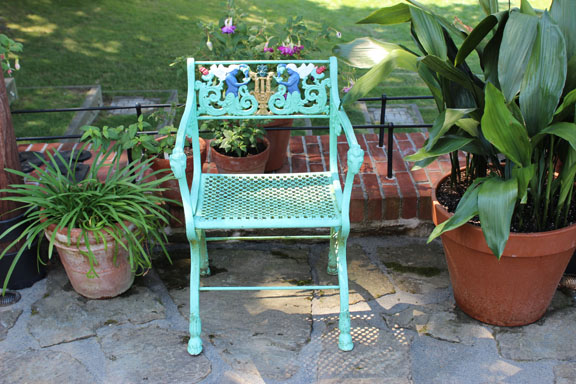 The chair in the afternoon garden