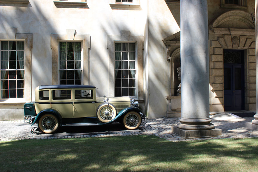Swan House in the Front with the car