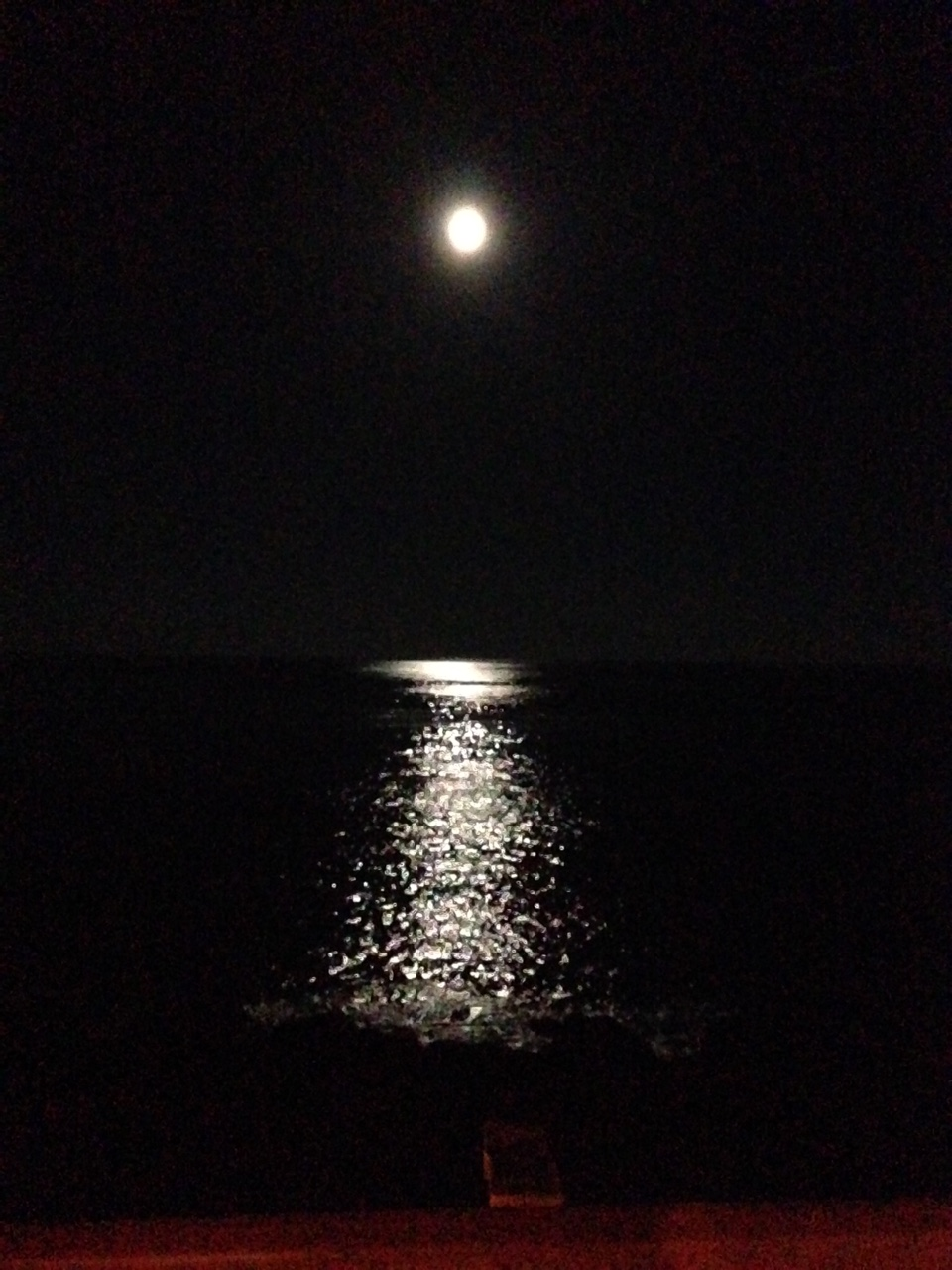 Moon at Wallis Sands Beach in Rye, NH