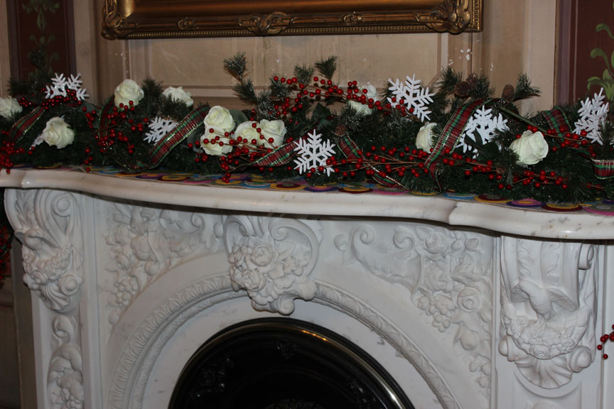 Mantel in Victoria Mansion