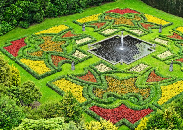 Some gardens, such as Lyme Park in Cheshire, are reintroducing or reinterpreting old bedding schemes. Credit: NPTL/Stephen Robson